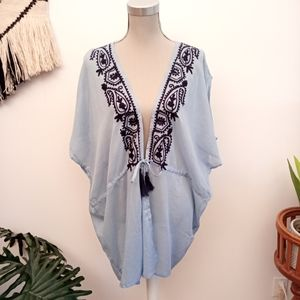 Other - Embroidered beach cover up one size